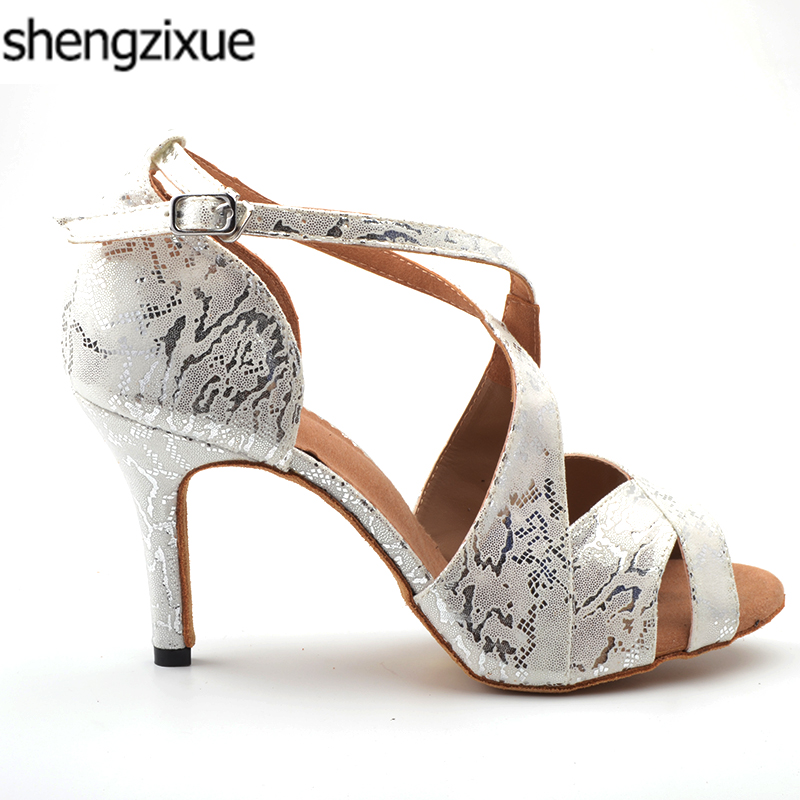 shengzixue 2018 Women s White Satin Latin Dance Shoes Wholesale Spot Salsa  Party Square Dance Shoes 8.5 b51ab9783149
