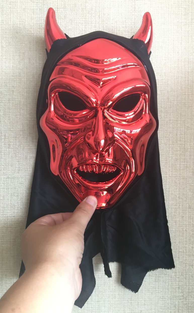 Nuevo Cosplay delicated Red Devil Mask máscara de la mascarada de ...