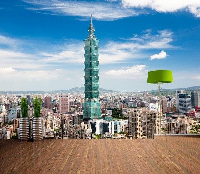 Custom Photo Wallpaper Taiwan City Landscape 3D Bedroom Living Room Sofa TV Backdrop Mural