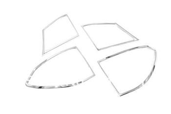 سيارة التصميم الكروم الذيل ضوء الغطاء عن هوندا jdm سيفيك 2006-2011