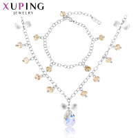 Xuping Luxury Set Fashion Jewelry Sets Popular Platinum Color Plated Crystal From Swarovski Charm High Quality