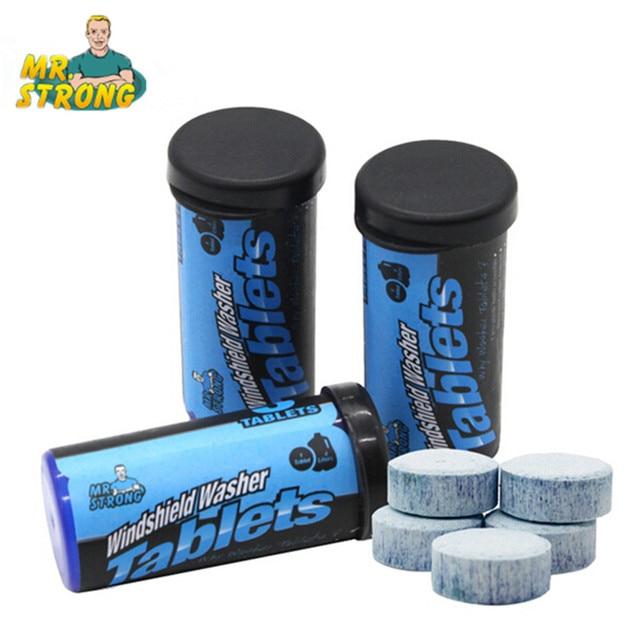 10Bottles/Lot Mr.strong Windscreen Washer Tablet Environmentally Safe Leaving Windshields Sparkling Clean