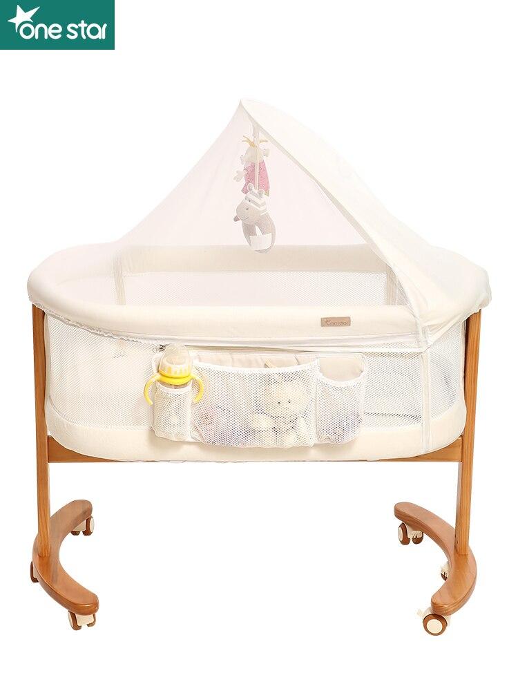 Onestar Newborn Baby Crib Bedside Bed Multifunctional Portable Bb Splicing