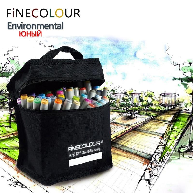 ФОТО 24/36/48/60/72 Environmental Set Colors Set Marker Double Headed Sketch Alcohol Marker Pen Paint Sketch Art Copic Marker