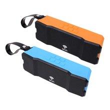 Mini Portátil WIFI Altavoz Woofer Estéreo A Prueba de agua Caja de Altavoces Soundbar Soporte Multi Dispositivo Al Aire Libre Naranja Azul con Correa