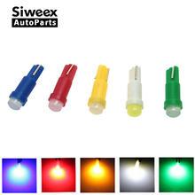 20 pces t5 1 led dc12v cerâmica painel calibre instrumento cerâmica carro auto lado cunha lâmpada de luz vermelho/verde/amarelo/azul/branco