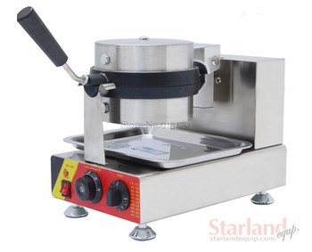 Classical Waffle Baker with Rotatable Pan L-type handle unique design Snack Machine for Making