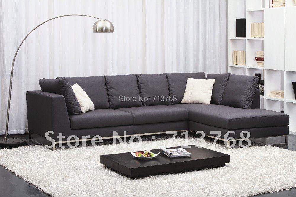 charming modern furniture living room corner fabric sofa sectional mcno422 | Modern furniture / living room corner fabric sofa ...
