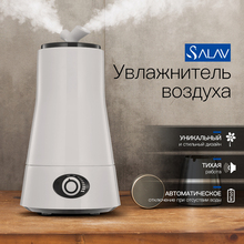 SALAV 2.5L Air Humidifier Ultrasonic Aroma Diffuser Double Nozzles LED Night Light Aromatherapy Mist Maker Essential Oil XY-19