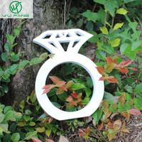 Wood Diamond Sign Wedding Decoration Photo Booth Props Wooden Hand Diamond Ring Party Gifts Home Accessories