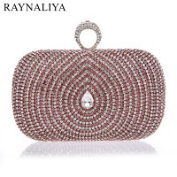 2017 Rhinestones Women Clutch Bag Diamonds Finger Ring Evening Bags For Lady Crystal Wedding Bridal Handbags SFX A0029