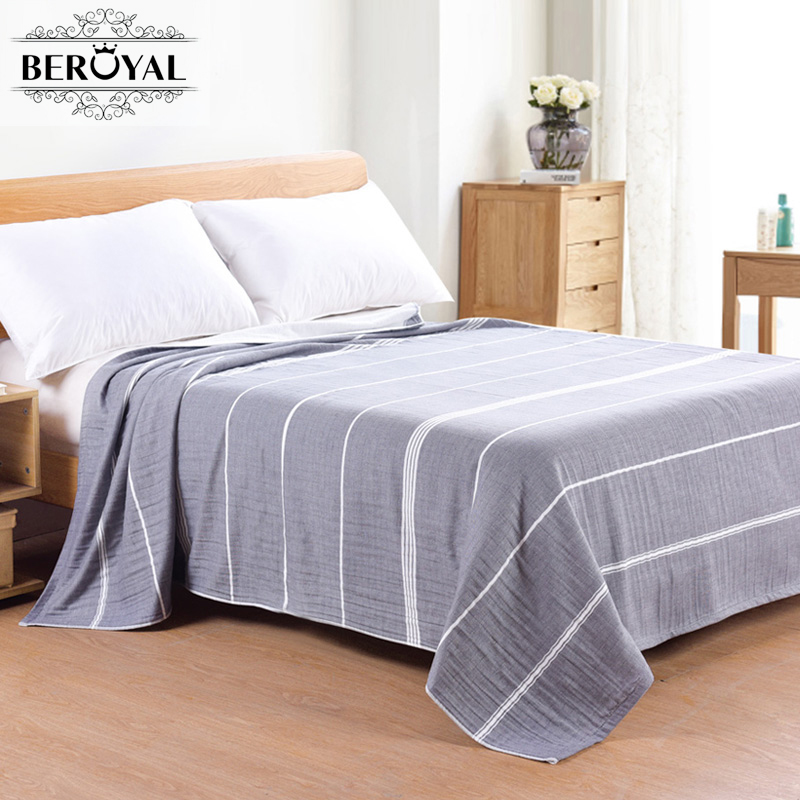 Beroyal Brand 2017 Throw Blanket -100% Cotton Gauze Blankets Adult Blankets for Beds Brand Thicker Muslin Blanket 150*200cm new 2017 throw blanket 1piece 150 200cm 100