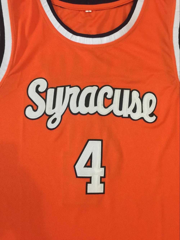 4 Rony Seikaly Washington Syracuse Orange 1991 Basketball Jersey All