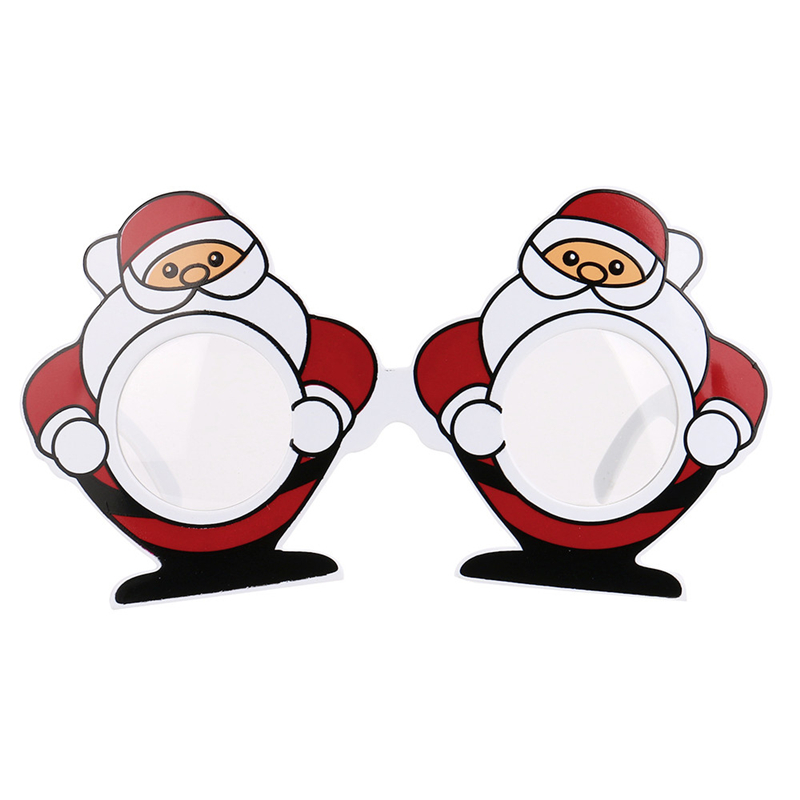 2017 Good Sale Funny Santa Claus Glasses Fancy Dress Party Decoration Costume Toy Christmas Fun Toys For Children Drop Shipping