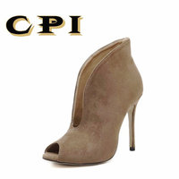 CPI New Popular Street beat mouth Woman shoes High heeled sexy Rome Casual ,High heeled V mouth fish head high shoes NN 022
