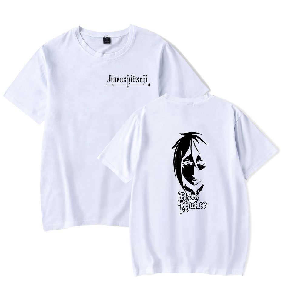 Hot Anime 블랙 버틀러 만화 반팔 t 셔츠 유니섹스 캐주얼 Tshirt 남성 여름 남성 O 넥 패션 브랜드 Streetwear 하라주쿠