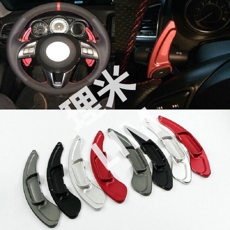 Hliníkové řazení na volantu pro Mazda 3 6 CX-3 CX-5 BM GJ 2014 2015 2016 Mazda3 Mazda6 Auto příslušenství