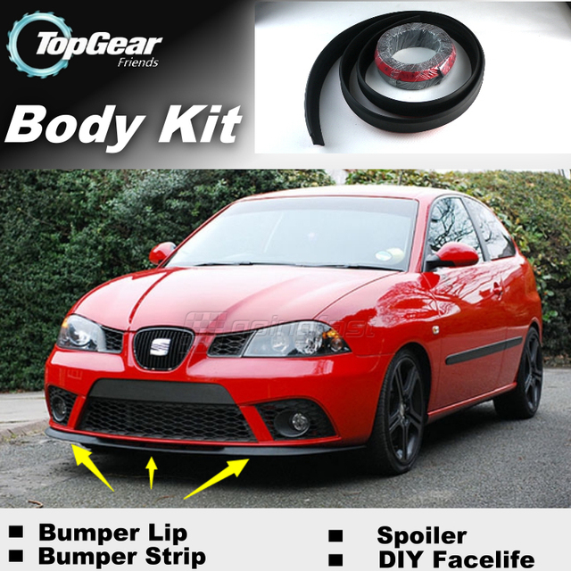 buy bumper lip deflector lips for seat ibiza front spoiler skirt for topgear. Black Bedroom Furniture Sets. Home Design Ideas