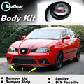 Lip Bumper Deflector labios para SEAT Ibiza Spoiler delantero falda para TopGear amigos a Tuning View / cuerpo / Strip