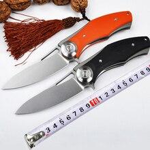 Dark Flipper tactics folding knife D2 titanium blade G10 handle outdoor survival knife hunting camping EDC tool