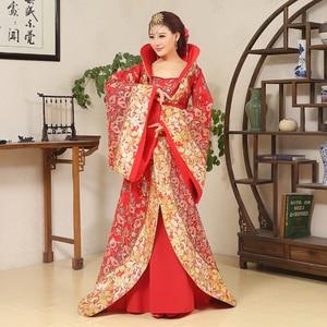 Image 2 - Luksusowy kostium dynastii Tang drag tail konkubina wróżka damska kostium sceniczny panna młoda chińskie wesele motyw studyjny taniec sukienka