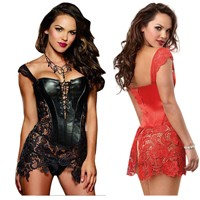 Faux Leather Corset-111