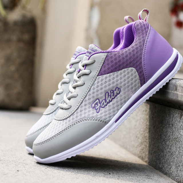2017 New Breathable Mesh Women Shoes Network Soft Women Casual Shoes