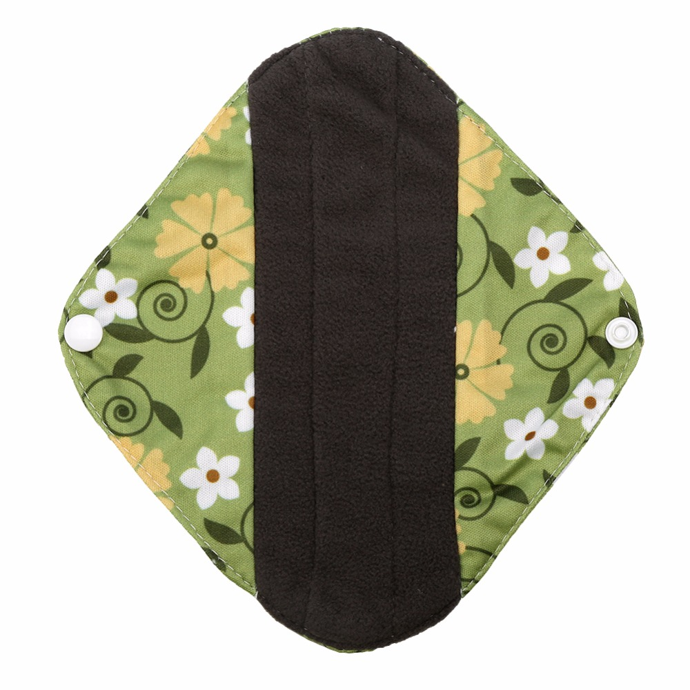 1Pcs 20*18cm Reusable Soft Bamboo Cloth Menstrual Pads 2018 Washable Waterproof Panty Liners Mama Sanitary Towel Pads For Women