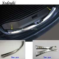 Top quality For Toyota RAV4 2016 2017 2018 car inner inside Rear Bumper trim Stainless Steel Scuff Sill trunk plate pedal 1/2pcs