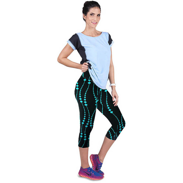 Women's Sports Leggings with Colorful Floral Prints