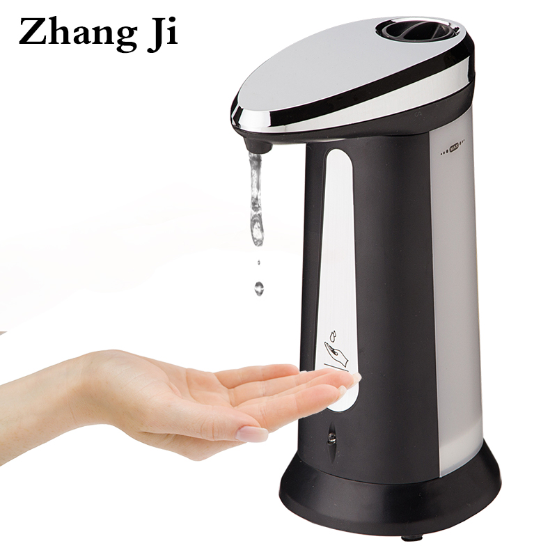 Zhang Ji Automatic Liquid Soap Dispenser Bathroom Kitchen Touchless 400ml ABS Electroplated Smart Sensor Soap Dispenser 400ml automatic liquid soap dispenser smart sensor soap dispenser pump shower kitchen soap bottle for bath washroom mayitr