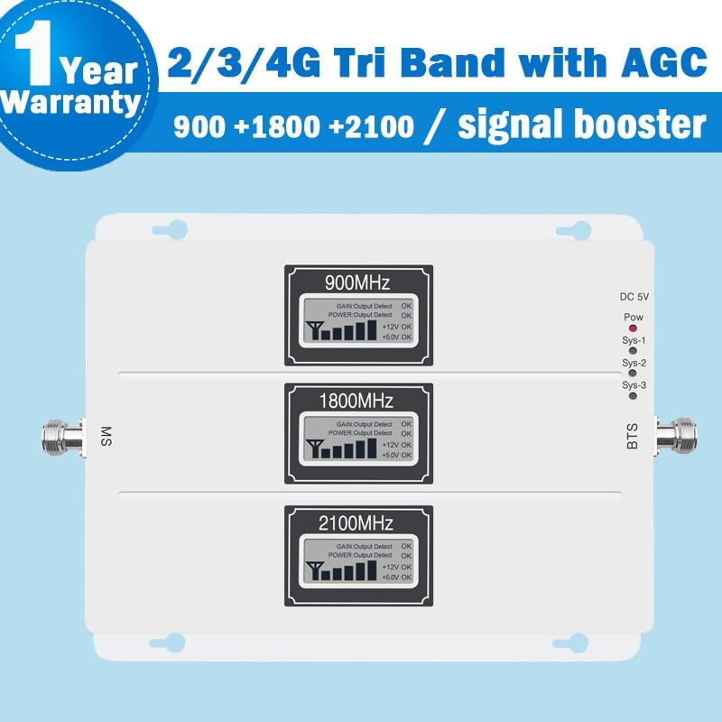 Gsm lte répéteur 2g 3g 4g amplificateur de signal écran lcd 900/1800/2100 MHz repetidor gsm mobile réseau booster AGC 4g répéteur S41