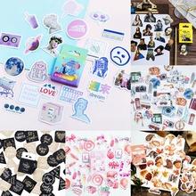 Śliczne Vaporwave etykieta Kawaii pamiętnik ręcznie papier samoprzylepny płatek japonia naklejki Scrapbooking papiernicze artykuły papiernicze tanie tanio 6 lat 44x44x11mm TZ238 MOHAMM Sticker