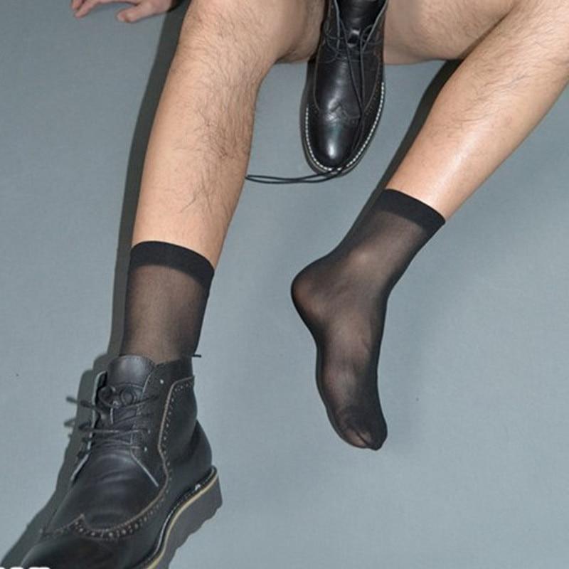 SORRYNAM 10 Pairs/Lot Men Nylon Silk Socks Sexy Sox for Male High quality Male formal Dress suit Socks