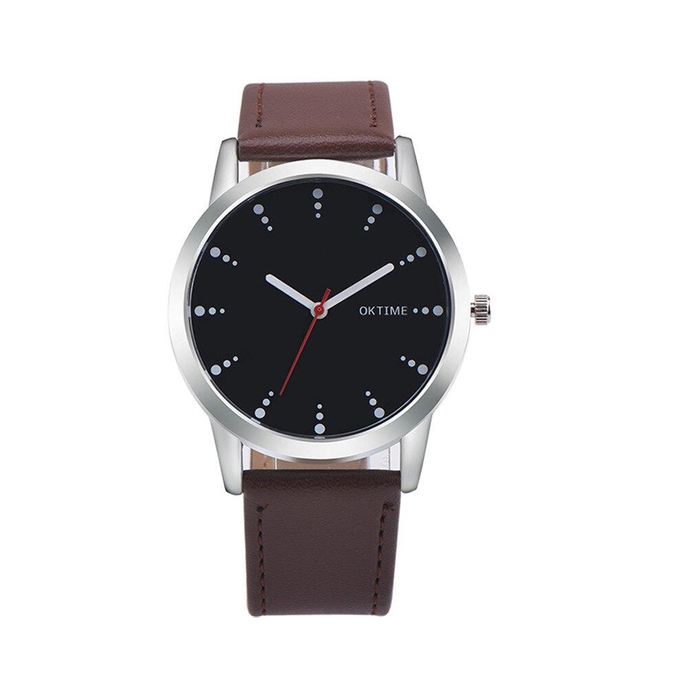 2017 Retro Design Dot Leather Band Analog Alloy Quartz Wrist Watch Dropship Y7824