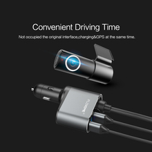 FLOVEME 5V/3.1A Universal LED Dual USB Car Charger for iPhone X 8 7 6 Xiaomi Alloy Car Lighter Slot Mobile Phone Charger
