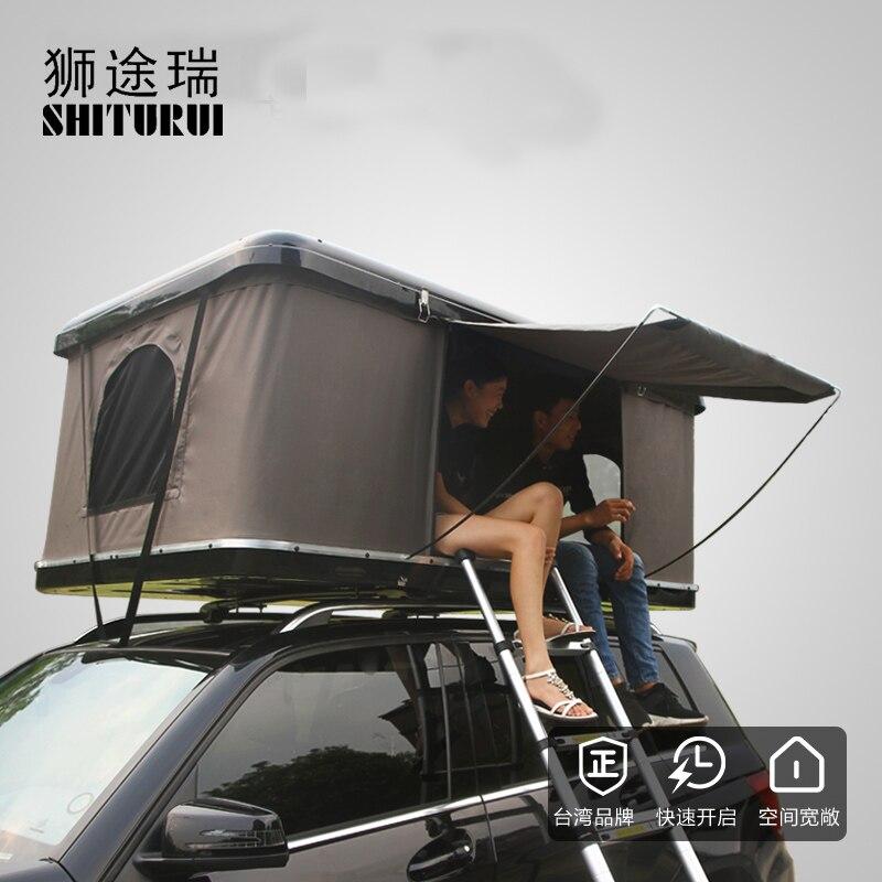 Sélection multicolore de sortie d'usine de vitesse hydraulique de tente de toit de voiture avec l'appui de serrure véhicule tout-terrain de SUV à grande vitesse de 120 yards