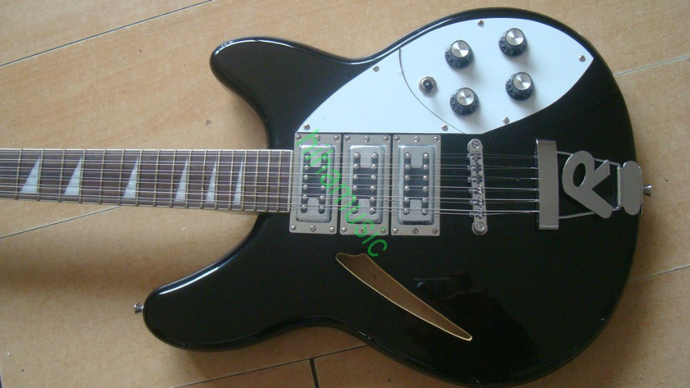 12 строки электрогитара тяжелый звук рок музыка бесплатная доставка Хорошее Гитары S Черный и белый цвета Бесплатная доставка Распродажа