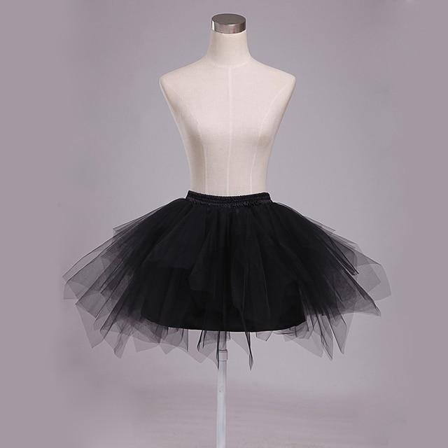 Free Size Black/White Tulle Skirt Women Short Mini Skirt Female Elastic Waist Skirt 2017