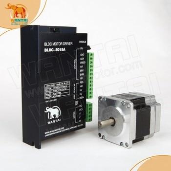 ( USA Ship& EU Free)  3D CNC Miller Wantai Nema 23 Brushless DC Motor 3000RPM, 24VDC,125W,3phs,57BLF02 & Driver BLDC-8015A