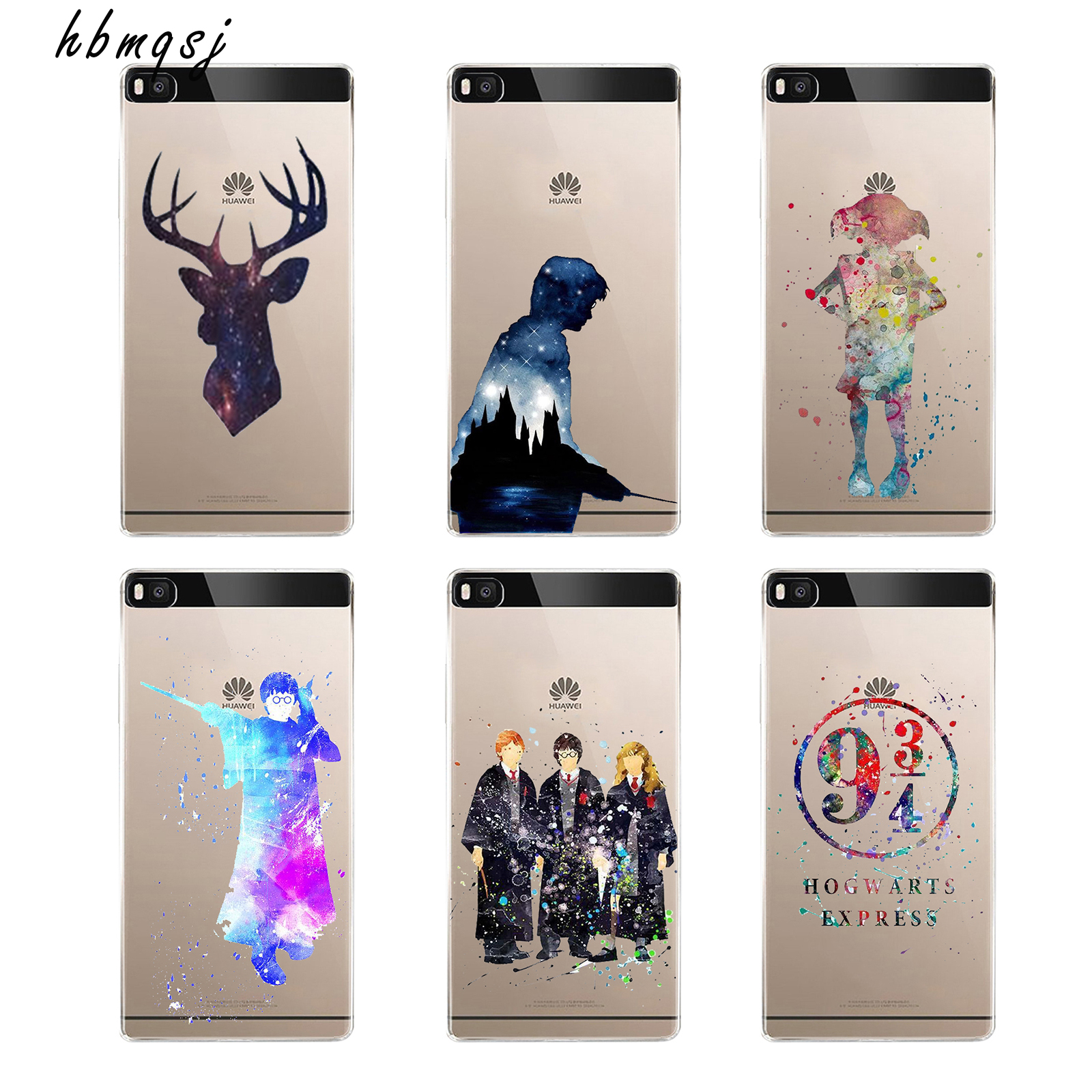 Super cool for huawei p8 lite p8 lite case 2016 silicone soft tpu clear art painting movie Harry Potter magic wand phone cover