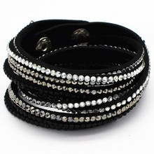 New Fashion 12 Layer Leather Bracelet! Factory Discount Prices, Charm Bracelet!1 Free Shipping!