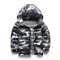 Winter Children Boys Down Coat Fashion Hooded Thick Patchwork Boy Jacket 3-9T Keep Warm Coat Winter Clothes Outwear dj018