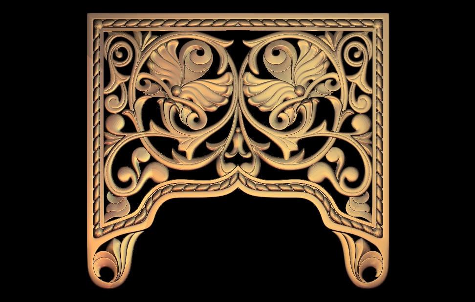 3D STL Model For CNC Router Engraver Carving Machine Relief Artcam Aspire M61