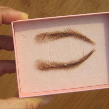 FXVIC lace eye brow wigs, blonde human hair brow wigs ,