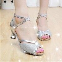 2017 New Women Latin Dance Shoes Soft Bottom PU Female Salsa Party Ballroom Social Dancing Shoes