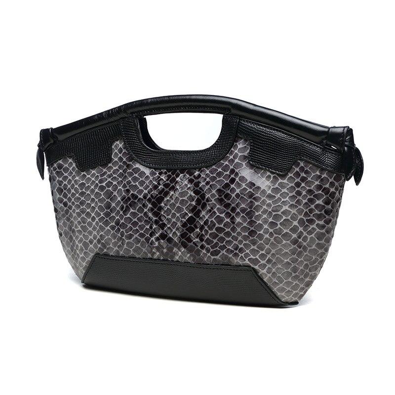 Dame prave kože Retro torbu Luksuzni Žene torba Serpentine Večer - Torbe - Foto 3