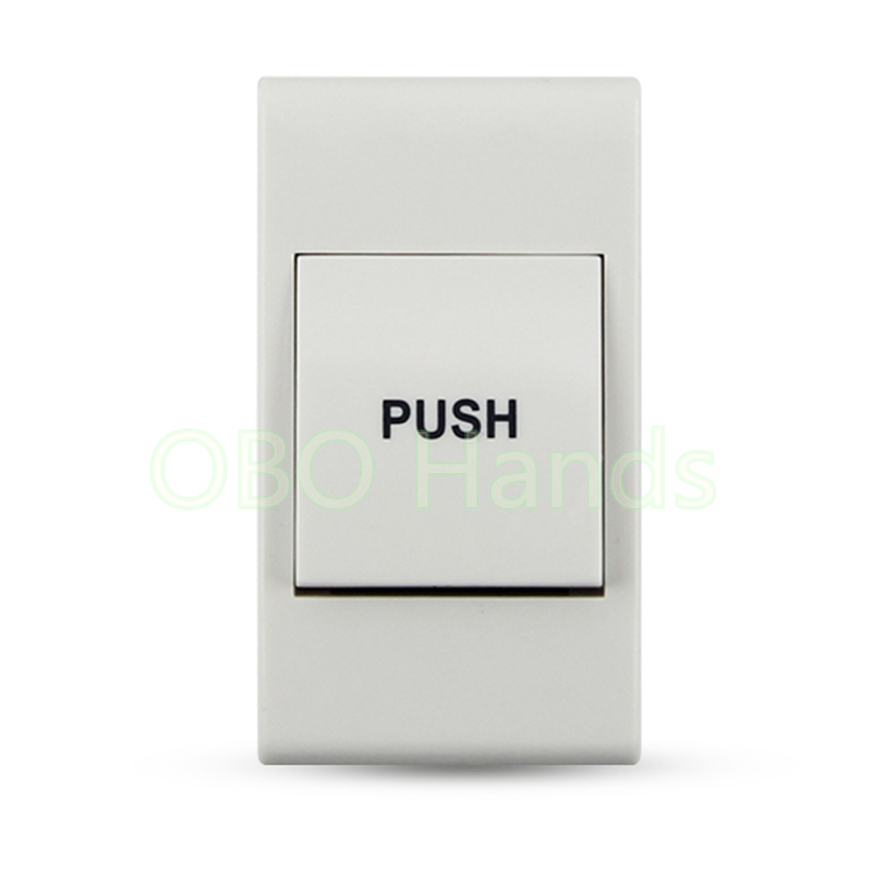 ABS emergency push button switch White Push Door Release Emergency Exit Button Switch for security alarm Access Control system fireproofing plastic abs white push door release exit button switch for door lock access control system m6 model