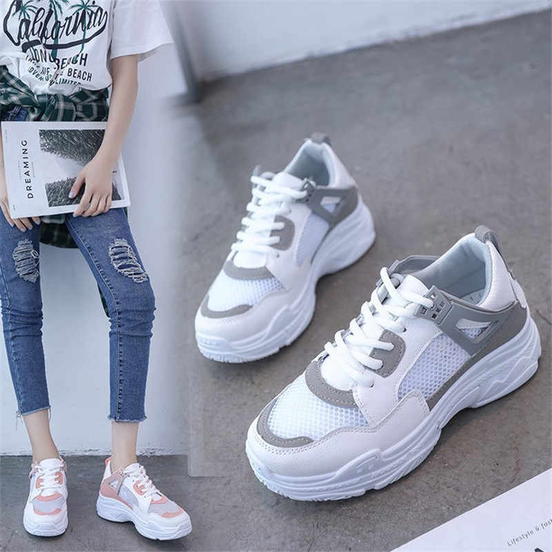 78ed57184239 2018 New Women Summer Shoes Size 35-40 For Woman Flat Heels Breathable  Casual Sneakers
