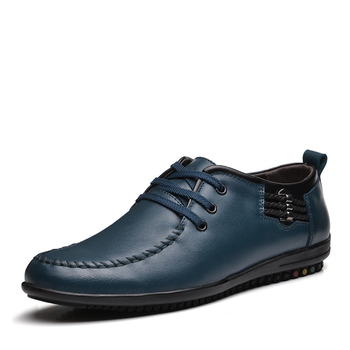 Nice New Autumn Genuine Leather Shoes Fashion Round Toe Lace-UP Business Shoes Breathable Men Casual Shoes Dress Shoes For Men
